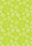 Teste padrão do oceano no fundo verde de néon Fotografia de Stock