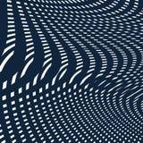 Teste padrão do ondeamento, fundo da arte op Contexto hipnótico do vetor com Fotografia de Stock Royalty Free