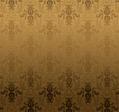 Teste padrão do ornamental de Brown ilustração stock