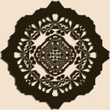 Teste padrão do ornamental de Brown Foto de Stock Royalty Free