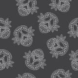 Teste padrão do Ornamental do crânio Fotos de Stock