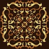 Teste padrão do ornamento do ouro Foto de Stock Royalty Free