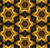 Teste padrão do ouro baseado na mandala Foto de Stock Royalty Free
