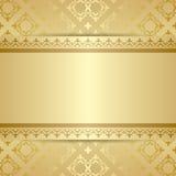 Teste padrão do ouro com ornamento e inclinação Foto de Stock Royalty Free