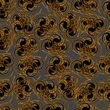 Teste padrão do ouro em um fundo cinzento Imagens de Stock