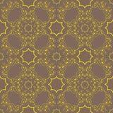 Teste padrão do ouro em um fundo de bronze Imagem de Stock Royalty Free