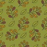 Teste padrão do outono com folhas Imagens de Stock