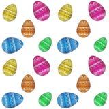 Teste padrão do ovo da páscoa Fotos de Stock Royalty Free