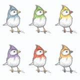 Teste padrão do pássaro Imagens de Stock Royalty Free