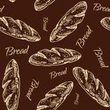 Teste padrão do pão ilustração royalty free