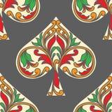 Teste padrão do pôquer das pás Imagem de Stock Royalty Free
