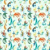 Teste padrão do papel de parede colorido das pétalas da flor Ilustração Royalty Free