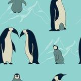 Teste padrão do pinguim ilustração royalty free