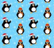 Teste padrão do pinguim do inverno Fotografia de Stock