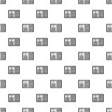 Teste padrão do plano de negócios, estilo simples ilustração do vetor