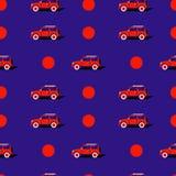 Teste padrão do pop art com carro Foto de Stock
