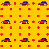 Teste padrão do pop art com carro Foto de Stock Royalty Free