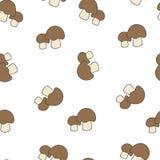 Teste padrão do porcini do cogumelo sem emenda Imagens de Stock