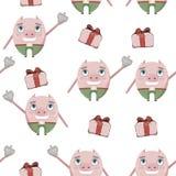Teste padrão do porco bonito ilustração royalty free