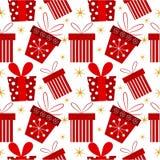 Teste padrão do presente de Natal Fotografia de Stock