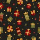 Teste padrão do presente do Natal Foto de Stock