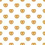 Teste padrão do pretzel macio sem emenda ilustração stock
