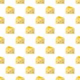 Teste padrão do queijo sem emenda ilustração do vetor