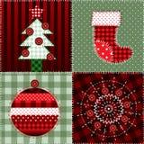 Teste padrão do quilt do Natal Fotos de Stock