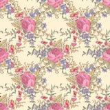 Teste padrão do ramalhete da flor Fundo sem emenda floral Emenda floral ilustração stock