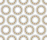 Teste padrão do rolamento de esferas ilustração do vetor