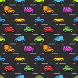 Teste padrão do ` s das crianças com carros Fotografia de Stock