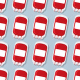 Teste padrão do saco da transfusão da doação de sangue Backgroun médico Imagens de Stock