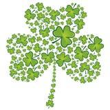 Teste padrão do shamrock do dia do St Patrick Imagem de Stock