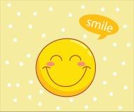 Teste padrão do smiley Fotos de Stock