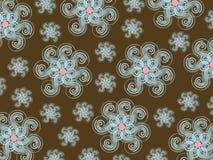 Teste padrão do snowflower do inverno Foto de Stock