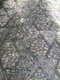 Teste padrão do sumário do paver do jardim Fotografia de Stock