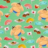 Teste padrão do Sumo Foto de Stock Royalty Free