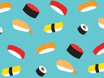Teste padrão do sushi Fotografia de Stock Royalty Free