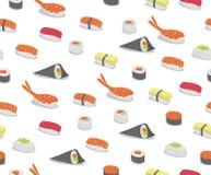 Teste padrão do sushi Fotografia de Stock