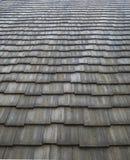 Teste padrão do telhado das telhas fotografia de stock