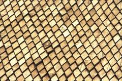 Teste padrão do telhado de madeira de Tailândia Fotos de Stock Royalty Free