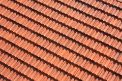 Teste padrão do telhado de telha vermelha Fotos de Stock
