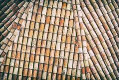 Teste padrão do telhado de telha vermelha, filtro análogo foto de stock