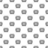 Teste padrão do temporizador da cozinha de Digitas sem emenda ilustração royalty free
