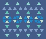 Teste padrão do triângulo Imagens de Stock