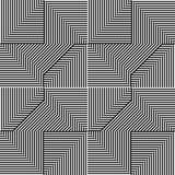 Teste padrão do triângulo com a linha preto e branco Imagens de Stock Royalty Free
