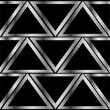 Teste padrão do triângulo do metal Foto de Stock