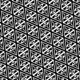 Teste padrão do triângulo preto e branco ilustração do vetor