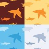 Teste padrão do tubarão Imagens de Stock Royalty Free