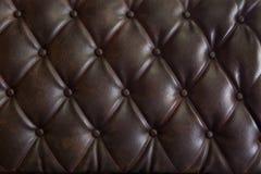 Teste padrão do upholstery do couro genuíno Imagem de Stock Royalty Free